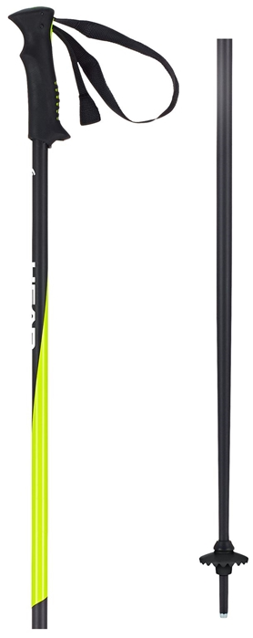 Head kije narcierskie Pro black/neon yellow