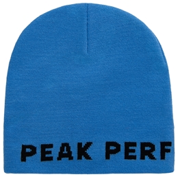 Peak Performance czapka KNITTED Blue Organic