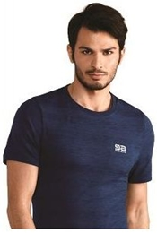 GATTA T-shirt Asica Seamless Ziggy navy blue