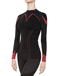 GATTA koszulka damska Thermo Plus Jolly Blk/Red