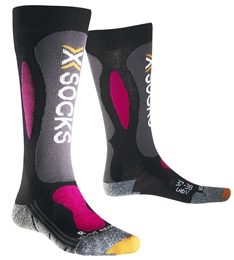 X-Socks Skarpety Ski Carving Silver damskie